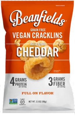 *NEW* - Beanfields - Bean Cracklins - Aged White Cheddar - 28g