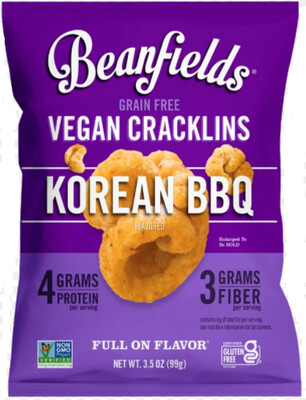*NEW* - Beanfields - Bean Cracklins - Korean BBQ - 28g