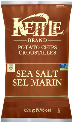 *NEW* - Kettle - Potato Chips - Sea Salt - 45g