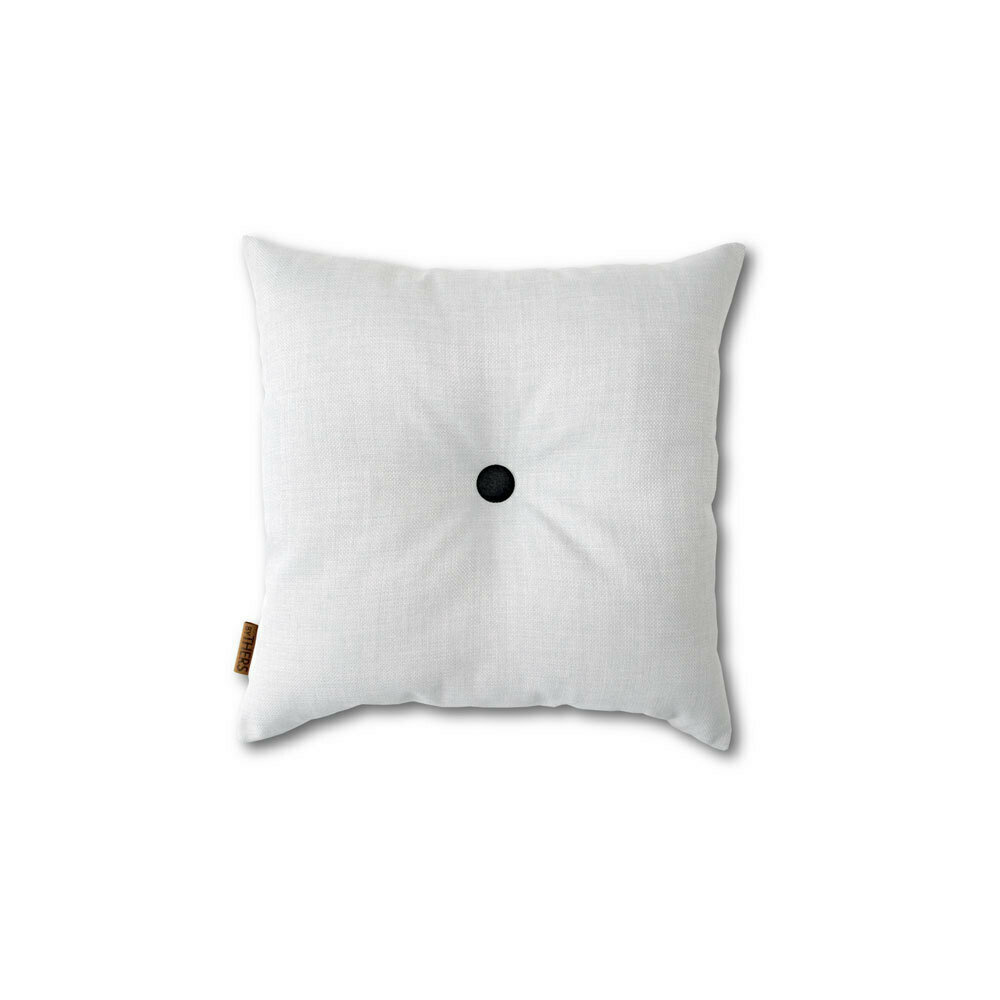 Hvid mini-pude med knap