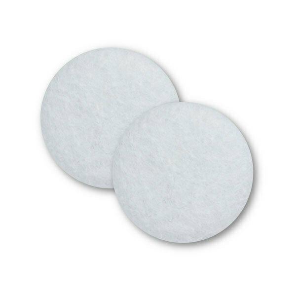 Sæt af 2 knapper til design-selv puder / Hvid