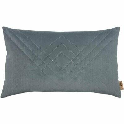 Quiltet Velour - Mellem grå