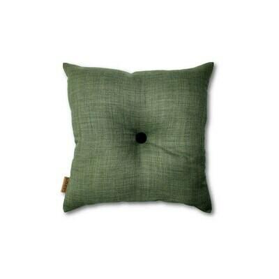 Mørk grøn mini-pude med knap