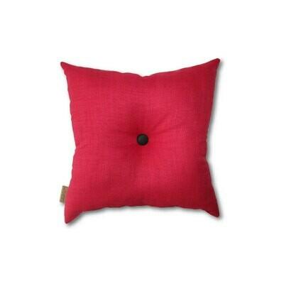 Rød mini-pude med knap