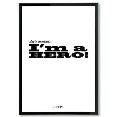 Hero (white), A3 - LAGERSALG