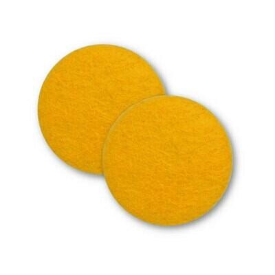 Sæt af 2 knapper til design-selv puder / Gylden gul