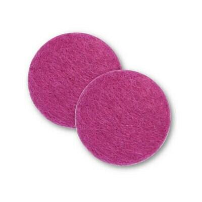 Sæt af 2 knapper til design-selv puder / Pink