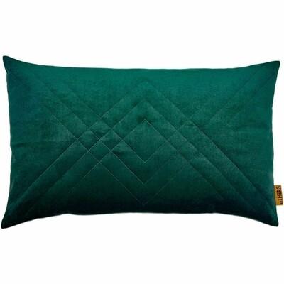 Quiltet Velour - Mørk grøn