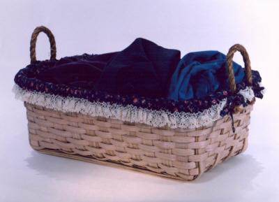 Laundry Basket - 27x17.5x9, Rope Handles