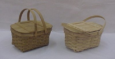 Small Market - 12x8x6.5, Drop Handles with Lid