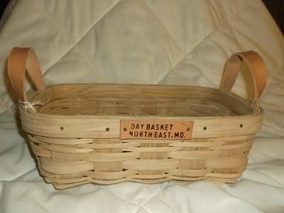 Apple Basket - 13x8.5x5, Leather Handle