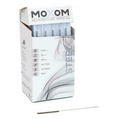 Moxom akupunkturnål med stålhandtag