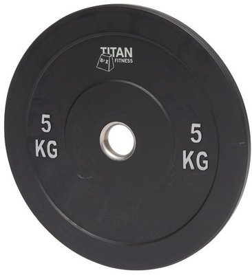 Titan Rubb. Bumper Plate 5 kg
