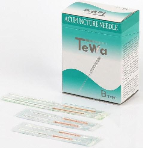 TeWa CJ - Akupunkturnål m Kopparhandtag och Tub