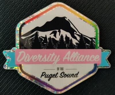 Glitter Logo Sticker
