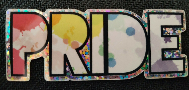 Glitter Rainbow Pride Sticker