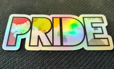 Rainbow Pride Holographic Sticker