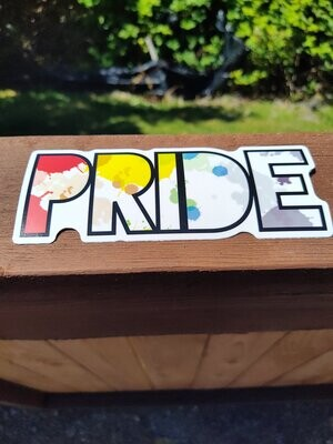 Large Rainbow Pride Sticker