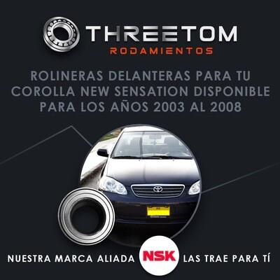Rolinera Delantera Toyota Corolla  (03-19)