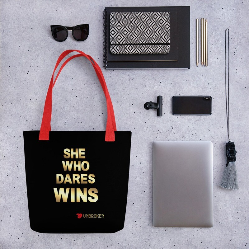 Dare To Win Tote bag