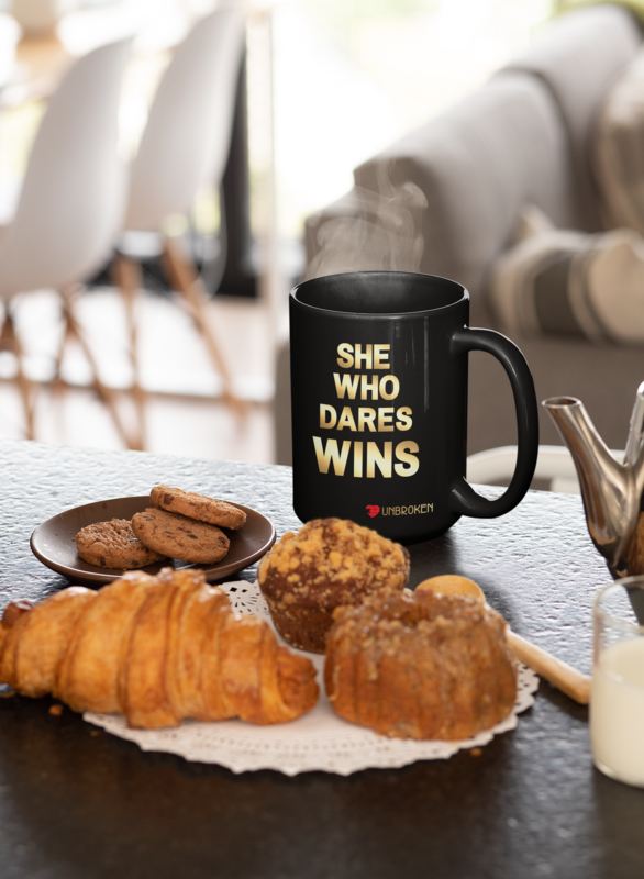 Dare To Win 15 oz Mug