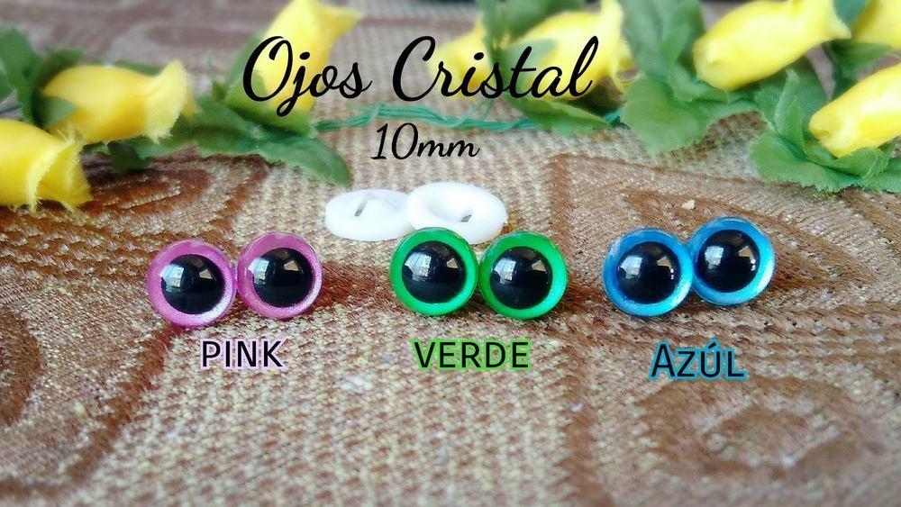 Ojos de seguridad bicolor 10mm 20 unidades