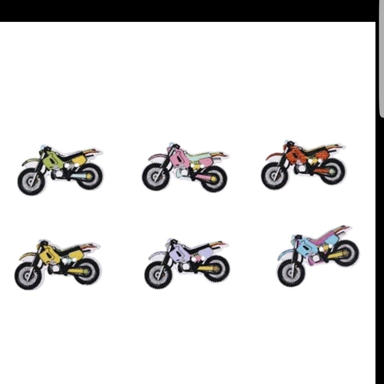 Motocicletas Botón Madera 10 unidades