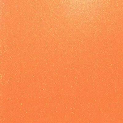 Fluorescent Orange Glitter HTV