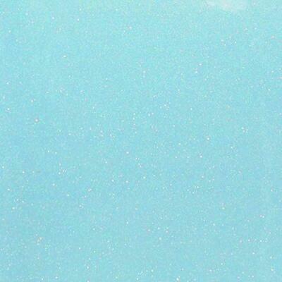 Fluorescent Blue Glitter HTV