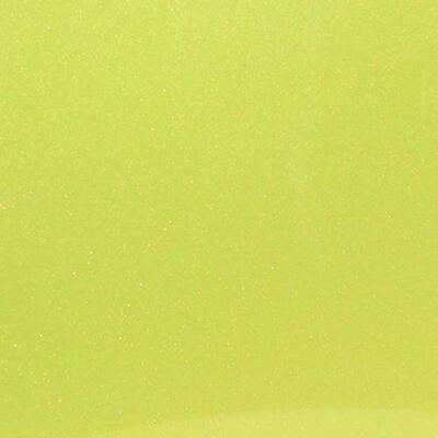 Fluorescent Yellow Glitter HTV
