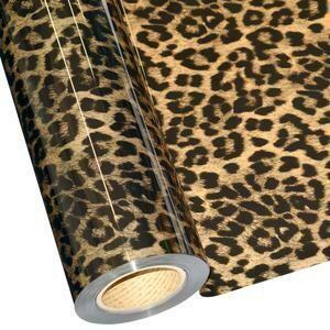 """20"""" Cheetah Gold Foil HTV"""