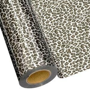 "20"" Leopard Silver Foil HTV"