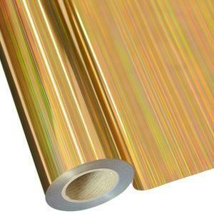 """20"""" Lines Gold Foil HTV"""