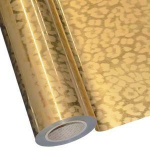 """20"""" Cheetah Matte Gold Foil HTV"""