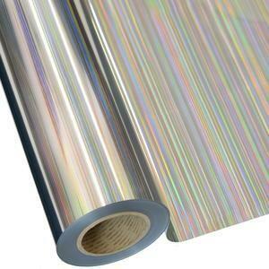 "20"" Lines Silver Foil HTV"