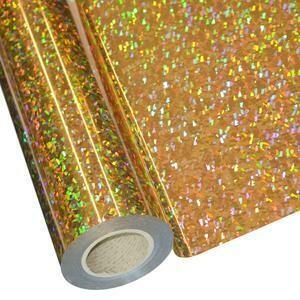 """20"""" Cracked Ice Gold Foil HTV"""
