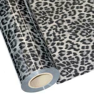 """20"""" Cheetah  Silver Foil HTV"""