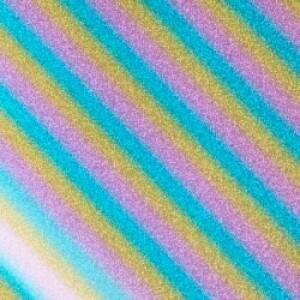 Rainbow Glitter Reflective HTV