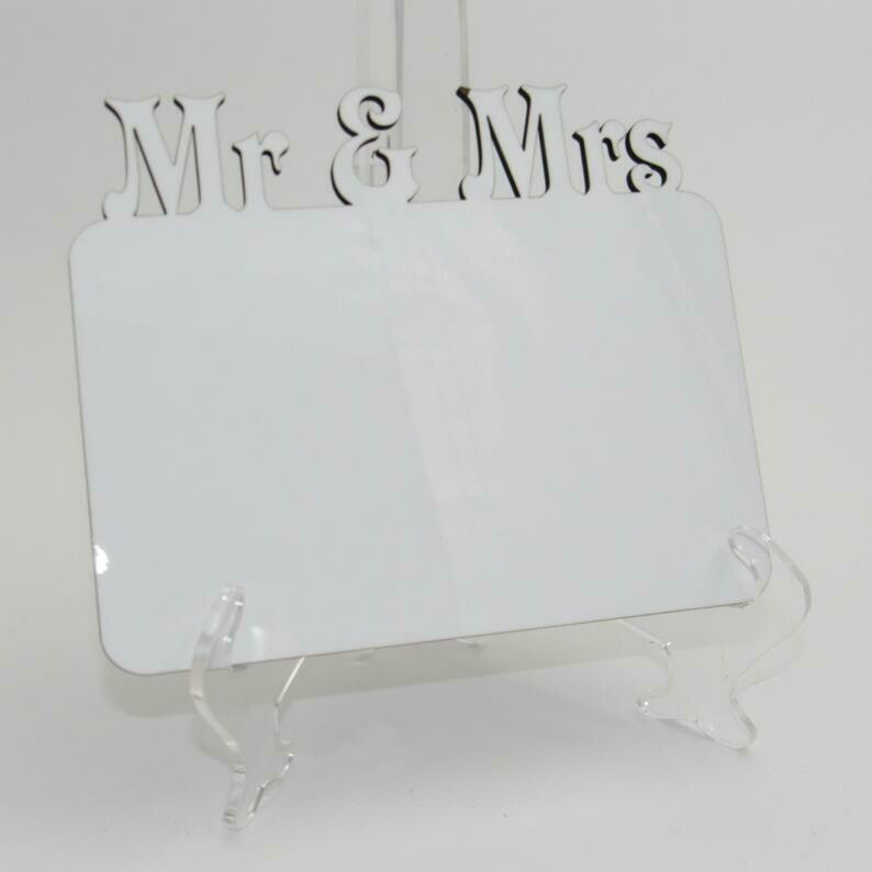 Sublimation Frame - Mr. & Mrs.