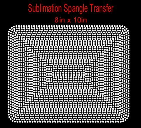 """10"""" Block Spangle Transfer (Ready in  3 Business Days)"""