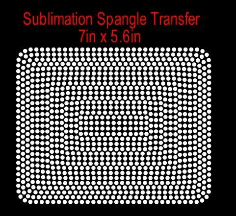 """7"""" Block Spangle Transfer  (Ready in 3 Business Days)"""