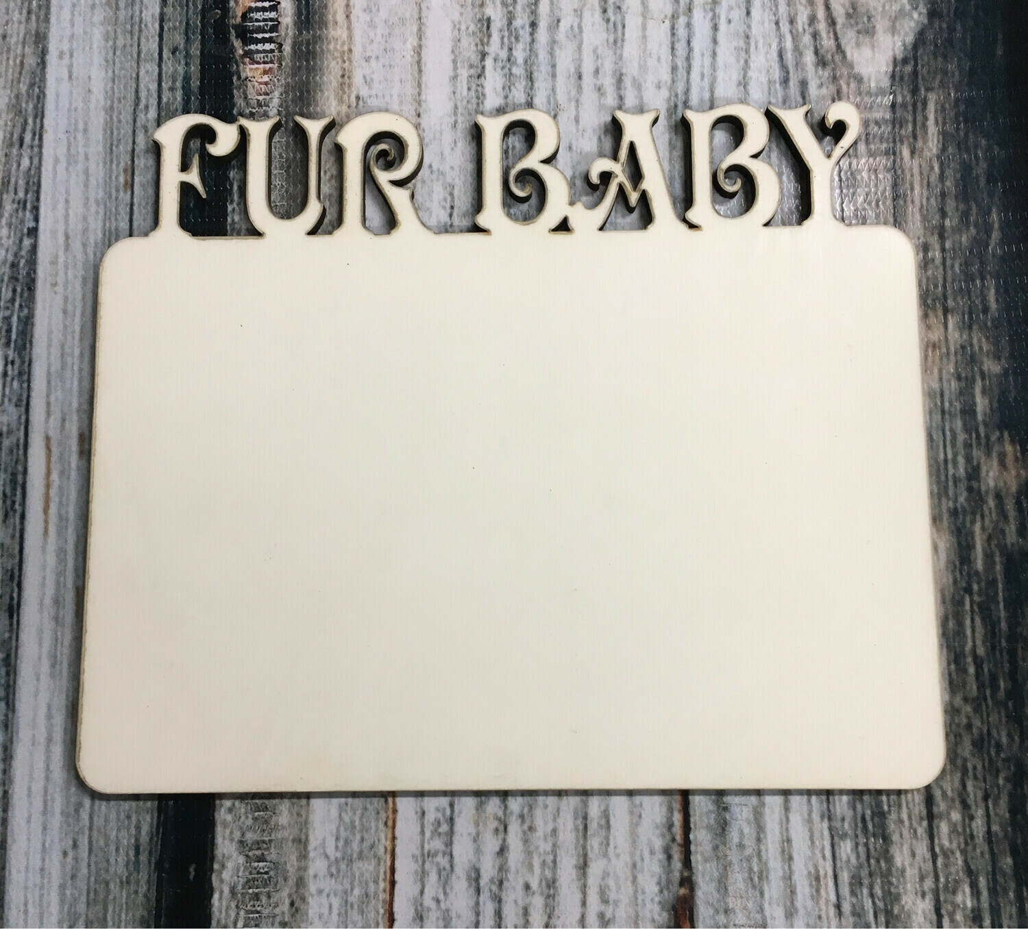 Sublimation Frame - Fur Baby