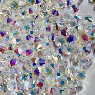 Elite Transparent Crystal AB Flatback Rhinestones