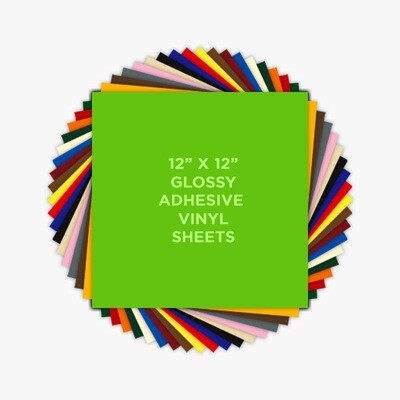 "Alien Vinyl 12"" x12"" Glossy Adhesive"