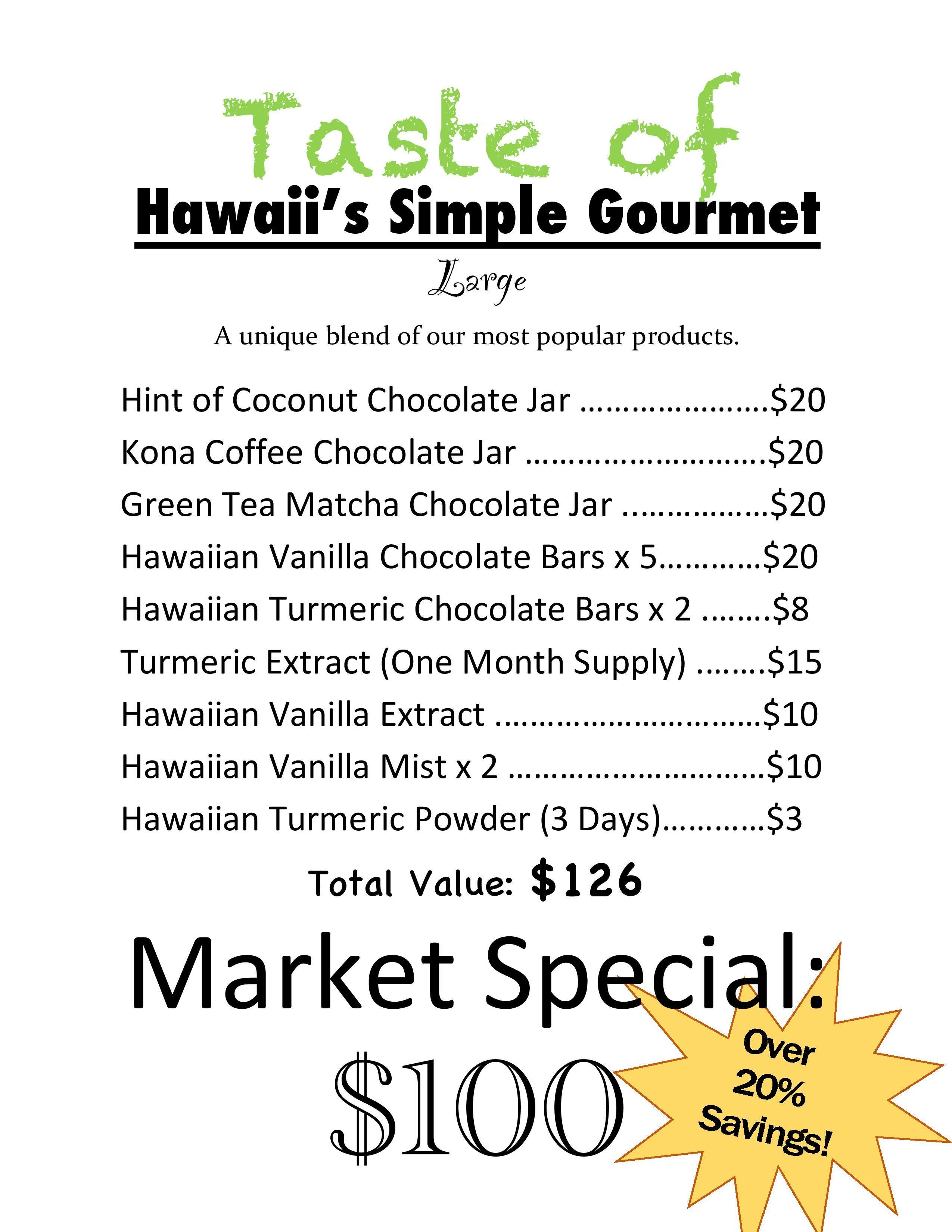 The Ultimate Taste of Hawaii's Simple Gourmet's Most Popular Products ToH- Large Gift Pack