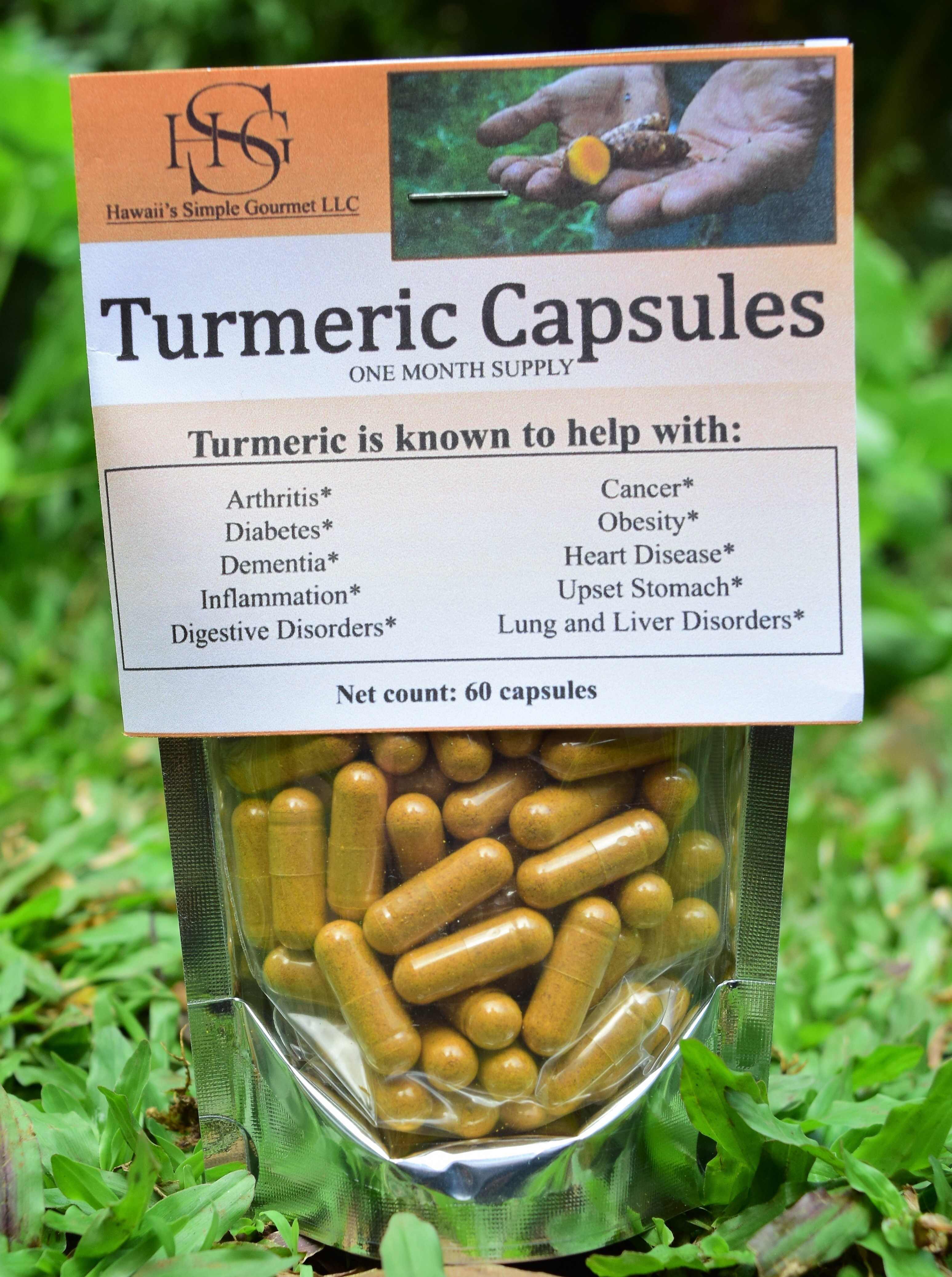 Turmeric Capsules - One Month Supply DDOT - Capsules