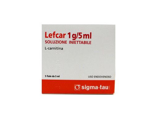Lefcar L-Carnitine IV Complete Set 5vials 1gram