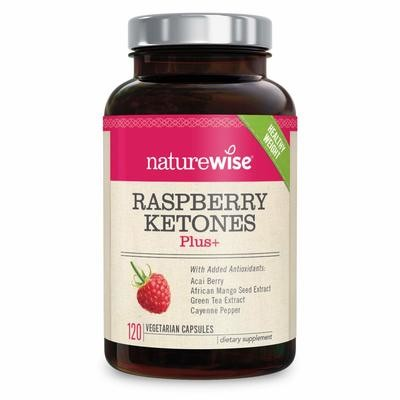 NatureWise Raspberry Ketones Plus Advanced Weight Loss & Appetite Suppressant 120 capsules