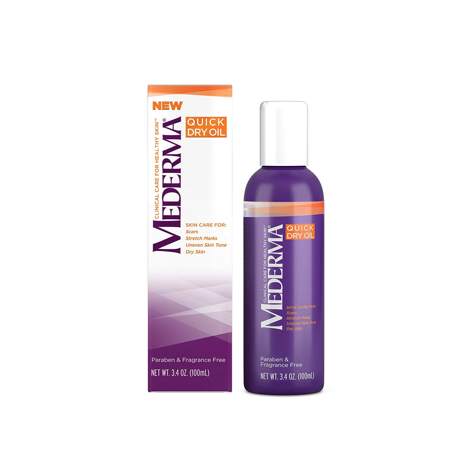 Mederma Quick Dry Oil For Scars, Stretchmarks, Uneven Skin Tone and Dry Skin 3.4 ounce