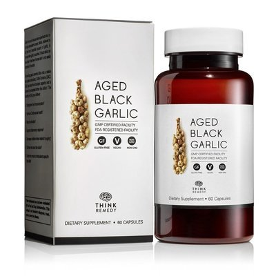 Aged Black Garlic Capsules Garlic Pills for High Blood Pressure and Cholesterol Support 60 Capsules